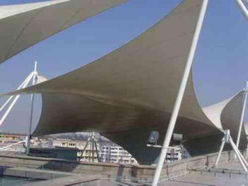 膜结构景观:膜材的应用与钢架表面的处理