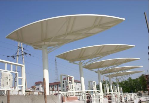 「膜结构景观」样式与膜材的设计过程
